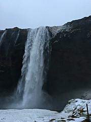 Skógafoss power (Pwern2) Tags: iceland landscape nature beauty mountains sunrise skies roads winter cold waterfall waterpower water s skógafoss skógáriver rock mist snow icea