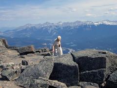 Jasper National Park, Colin Range view from the Whistlers Mountain (januszsl) Tags: rocky mountains ela alberta gory skaliste canada jasper national park narodowy rock rocks gestein roche skała skaly jaspernationalpark