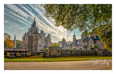 Honey, where is the toilet?? (Bob Geilings) Tags: castle 12thcentury netherlands autumn water movielocation bluesky architecture museum tree bridge building