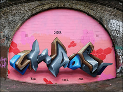 Chaos by Lovepusher (Alex Ellison) Tags: chaos lovepusher southlondon urban graffiti graff boobs