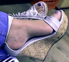 Sandalicious! (pbass156) Tags: sandals sexy sandalias shoes strappy feet foot footfetish fetish toes toefetish toenails teasing toepolish paintedtoes closeup pedicure pedi heels suckable