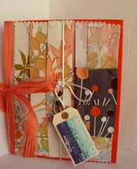 Orange.Fabric.book (SandraNestle) Tags: sandranestle art books handmadebook fibreart upcycled deco 1930s recycled