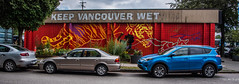 2018 - Vancouver - Keep Vancouver Wet (Ted's photos - For Me & You) Tags: 2018 bc britishcolumbia canada cropped nikon nikond750 nikonfx tedmcgrath tedsphotos vancouver vancouverbc vancouvercity vignetting johnnie christmas keepvancouverwet johnniechristmas johnniechristmaskeepvancouverwet 2017muralfest vancouver2017muralfest vancouvermuralfest muralfest mural wallmural vehicles wideangle widescreen burdockco cars red redrule streetscene street cans2s