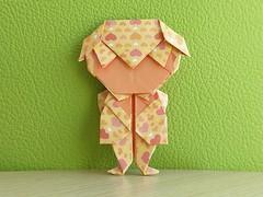 Man with bow tie designed by   Roman Diaz (Orizuka) Tags: romandiaz origami chiyogami man human