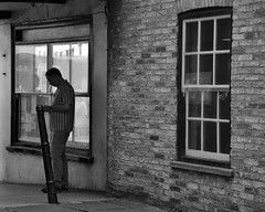 Waiting (Bury Gardener) Tags: ely candid cambridgeshire candids streetphotography street streetcandids snaps strangers people peoplewatching folks 2018 bw blackandwhite monochrome mono england uk britain