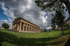 _DSC8039 (Dan Kistler) Tags: italy paestum greek temple clouds