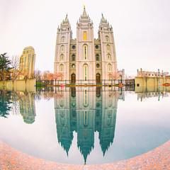 Salt Lake Temple (Thomas Hawk) Tags: america lds ldschurch mormon mormonchurch mormonism slc saltlakecity saltlaketemple usa unitedstates unitedstatesofamerica utah architecture reflection us fav10 fav25 fav50 fav100