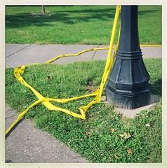 (Joie de Vivre) Tags: tape caution grass green yellow