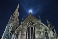 Moonlit (Ian@NZFlickr) Tags: first church otago moonlight silhouette dunedin nz night moon