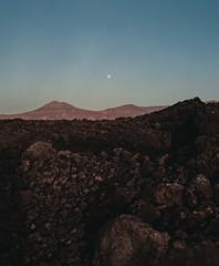 distant moon (Daniel James Edwards) Tags: film 120 120film mediumformat filmphotography cinematic 6x7 pentax6x7 pentax67 ishootfilm believeinfilm moon landscape alien volcanic lanzarote nightmoves kodak portra kodakportra800