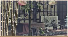 minamikaze180928-1 (minamikaze2010) Tags: furniture bamboo zencreations ofuro taikou dad blackbantam gacha {anc} lantern pose decoration