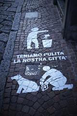 Teniamo pulite le nostre città! (ornella sartore) Tags: marciapiede disegni città particolari allaperto