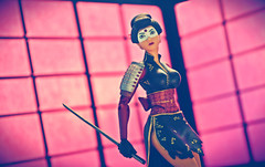 Katana (RK*Pictures) Tags: dccomics comicbooks actionfigure dccollectibles sexy girl female attractive beauty legs woman hot toy longlegged identity athletic adventure sweet cool rkpictures red toyphotography actionfigurephotography vintage retro bombshell dcbombshells antlucia designerseries feminism pinup hairstyle pinupstyle seductive superheroine crimefighting black dress makeup hair katana sword blade necromancy japanese tatsuyamashiro 山城たつ yamashirotatsu samuraiwarrior flowers kimono design samuraiarmor sode dragontattoo mikewbarr jimaparo masterswordswoman martialarts soultaker soul justice handtohandcombatant tacticalskills muramasa cursed cuttingedge 刀 japan