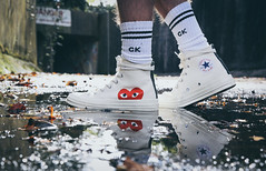 COMME DES GARCONS Converse high-top 70s x play cdg (matthew_00) Tags: converse shoe trainer high top comme des garcon ck reflection reflections heart