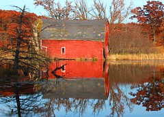 The Sinking Barn - Minnesota (Steve O'Day) Tags: fall autumn barn minnesota photography water reflection travel midwest explore rural canon