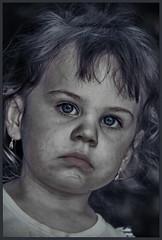 After Lunch - II (endresárvári) Tags: hungary budapest girl littlegirl kid child cute cutegirl smeared snotty angel dirty baby nicegirl earring desaturation canon