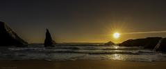 Sea Stack Sun Set (esimagecapture) Tags: bandon oregon sunset coast witches hate ocean sand waves water golden