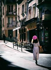 Quartier latin (Calinore) Tags: france paris city ville woman femme hat chapeau light lumiere street rue ruedelecolepolytechnique