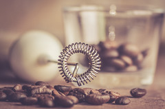 coffee time ... (Ayeshadows) Tags: coffee frother beans electric routine rutina