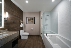 Beautiful bathroom, tub and shower