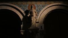 House of the holy (theflyingtoaster14) Tags: blue light house statue lumix gold licht shadows maria gothic kirche haus panasonic holy schatten niederösterreich austra heilig bogen gotisch hurch heilige lwer fgure fz2500 enzesdorf fz2000