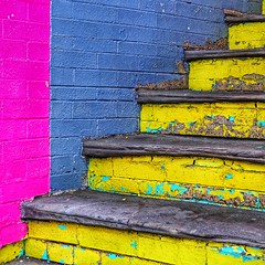 Stair Abstract #1 (2n2907) Tags: color digital dslr olympus omd coloursplosion abstract stairs urban colorful photo