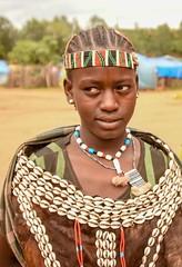 Banna Woman (Rod Waddington) Tags: africa african afrique afrika äthiopien ethiopia ethiopian ethnic etiopia ethnicity ethiopie etiopian banna tribe traditional tribal woman beads omovalley outdoor omo omoriver minority portrait people market