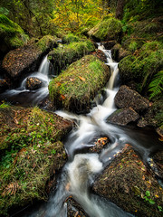 Wyming Brook (david.travis) Tags: rock england waterfall stream scenic derbyshire unitedkingdom wymingbrook water longexposure milky autumn fall brook creek longexpo rivulet slowshutter