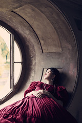 Sylwia (magdalena.russocka) Tags: woman historical historic periodic victorian vintage illustration illustrator indoor bookcover bookcoverdesign bookcoverdesigner narrative evocative atmospheric palace oldhouse