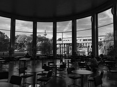 Campus Rotunde (jangrevel) Tags: architecture architektur igfarben rotunde iphone bw schwarzweis blackwhite campus uni frankfurt
