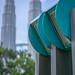 Bokeh Photo of Petronas Twin Towers from KLCC Park in Kuala Lumpur