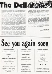 Southampton vs West Ham United - 1974 - Page 3 (The Sky Strikers) Tags: southampton west ham united football league division one the dell matchday magazine 7p