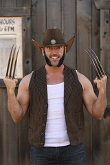 _WOL2457 (Socal Photography) Tags: xmen wolverine logan oldmanlogan patrickking andrewkolstad bts photoshoot nikon captainmarvel marvelcomics mutant marvel stunts stuntman western gambit oldwest cowboy puyallup fair statefair