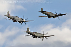 7395 Spitfires (photozone72) Tags: duxford iwmduxford spitfire warbirds wwii canon canon7dmk2 canon100400f4556lii 7dmk2 airshows aircraft airshow aviation