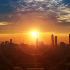 2018-09-24_04-02-11 (fchristysen) Tags: jakarta sunrise skyline morning flare slipi indonesia sky cloud sun dawn dusk