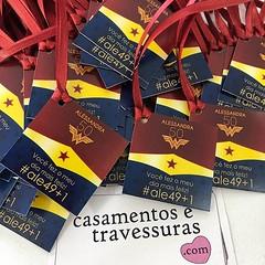Tags para as lembrancinhas da Alessandra! #mulhermaravilhaparty ✨✨✨✨✨✨ 📍personalizamos com o tema de sua festa 📍de SP para todo o Brasil 🎁casamentosetravessuras.com #ca (casamentosetravessuras) Tags: instagram facebookpost lembrancinhas personalizadas