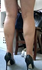 MyLeggyLady (MyLeggyLady) Tags: hotwife sex milf sexy secretary teasing thighs miniskirt pumps stiletto cfm legs heels