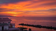 Beautiful Sunset (Oash_Dany) Tags: sunset sunnyday calabria italy coast clouds cloudy tramonto beautiful beach colors
