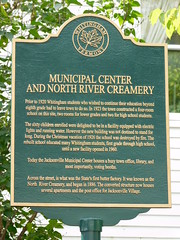 Historic Buidings Marker (jimmywayne) Tags: jacksonville vermont windhamcounty historic marker creamery northriver school municipal