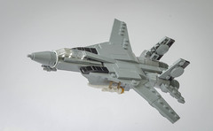 F14 Tomcat wings opened (Tino Poutiainen) Tags: lego legomoc legobuild legography plane fighter jet top gun tomcat moc microscale miniscale midiscale aircraft photograph photography picture carrier diorama missile film war
