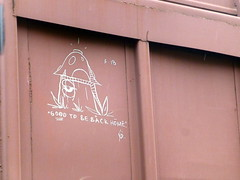 "SOAK ""Good to Be Back Home""  3/18 (arrowlakelass) Tags: graffiti freight bc boxcars railway castlegar canada cpr boxcar train paint steel rail p1200269edit"
