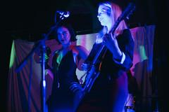 Midnight Opera (BurlapZack) Tags: pentaxk1 pentaxfalimited43mmf19 vscofilm pack07 dallastx oakclifftx texastheatre midnightopera behindthescreen livemusic localmusic musician musicians frontwoman frontwomen tambourine synth synths guitar guitarist vocals availablelight lowlight highiso portrait bokeh dof blue ladies gothglam glamrock artrock artpop avantglam moody