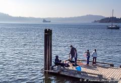 At the dock (R. Sawdon Photography) Tags: belcarrapark fishing crabbing water dock boat ocean blue post crabfishing burrardinlet indianarm family metrovancouver russsawdon rsawdonphotography freighter sailboat wood belcarra