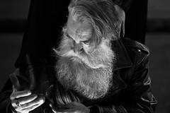 Stiefellette (jueheu) Tags: portrait portraitshooting porträit mann altermann perspektive schwarzweis sw blackwhite stiefel stiefellette bart beard lederjacke gesicht face shooting canon canonphotography