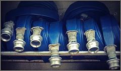Firemans hoses............ (Jason 87030) Tags: hose firman fireengine blue water jet study frame borer fun day northants northamptonshire emergency 2018 sony ilce alpha a6000 999 storage display open events