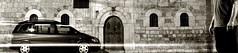 Intermède en marque-page I/III : scène de rue et autoportrait... (stephane.desire) Tags: pejë peć kosovo balkans église fenêtre mur porte autoportrait noiretblanc monochrome sépia marquepage pose poselongue пeћ