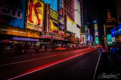 Time Square by night (corineouellet) Tags: slowshutter usa travel carlight longexposure longueexposition longexpo canonphoto canoncanada canon nightlights nightscape night cityscape city newyork nyc