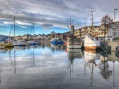 Voldabåter -|- Harbour show (erlingsi) Tags: erlingsi iphone erlingsivertsen volda reflection hamn harbour