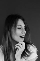 (daniel wdzięczkowski) Tags: black bw blackwhite bydgoszcz woman white wdzięczkowski people simple portrait poland model photography canon face fashion dark girl hair minimalizm monochrome nomakeup blackbackground