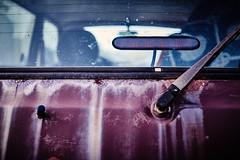 Decay I (iamunclefester) Tags: vacation holiday croatia krk otokkrk decay rusty salty sea lada niva ladaniva 4x4 red car windscreenwiper windshieldwiper wiper windscreen windshield tail lamp taillamp faded bleached sealing gasket sealinggasket closeup dof